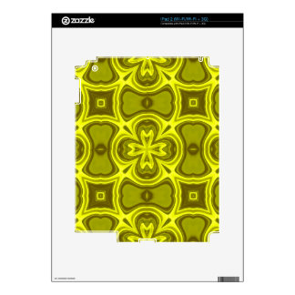 Yellow abstract wood pattern skins for the iPad 2