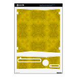 Yellow abstract wood Pattern Skins For Xbox 360 S
