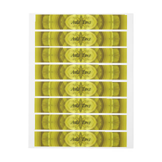 Yellow Abstract Wood Pattern Wrap Around Address Label
