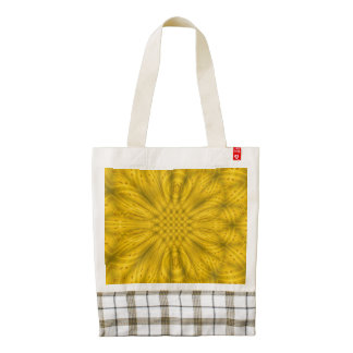 Yellow abstract wood pattern zazzle HEART tote bag