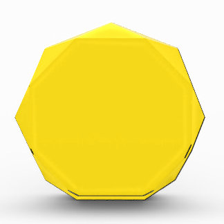 Yellow Acrylic Award