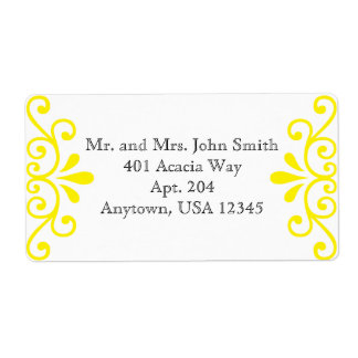 Yellow Address Sticker