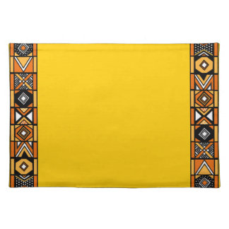 Yellow African Art Placemat