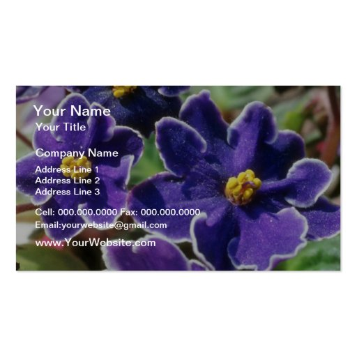 Yellow African Violet flowers Business Card Templates