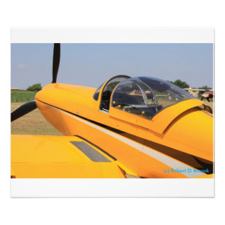 Yellow Airplane Closeup Photo Enlargement