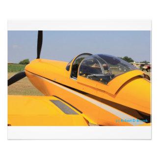 Yellow Airplane Closeup Photo Enlargement