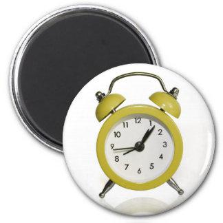 Yellow alarm clock magnet