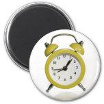 Yellow alarm clock magnets
