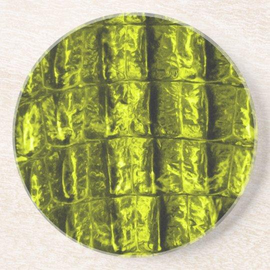 Yellow Alligator Skin Coaster