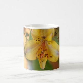 Yellow Alstroemeria Flower Mug