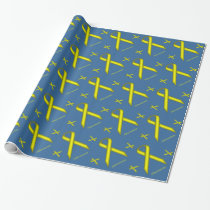 Yellow Alternating Rot. by Kenneth Yoncich Wrapping Paper