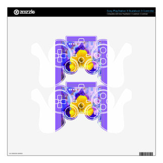 Yellow Amaryllis Flower Lilac Art Skin For PS3 Controller