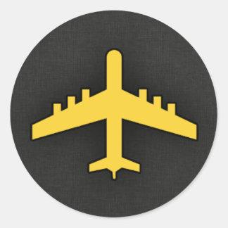 Yellow Amber Airplane Sticker