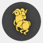 Yellow Amber Aries Sticker