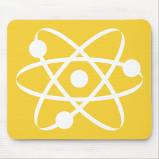 Yellow Amber Atom Mouse Pad