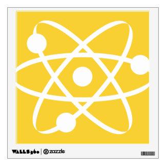 Yellow Amber Atom Wall Sticker