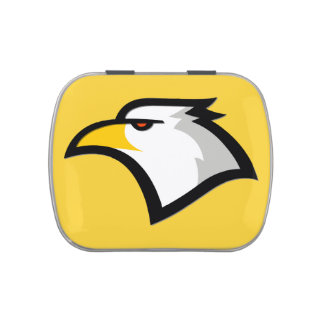 Yellow Amber Bald Eagle Candy Tin