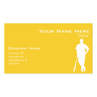 Yellow Amber Baseball Double-Sided Standard Business Cards (Pack Of 100)