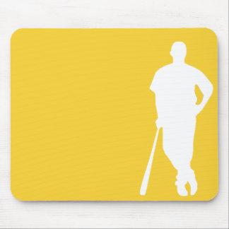 Yellow Amber Baseball Mouse Pad