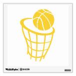 Yellow Amber Basketball Wall Skins