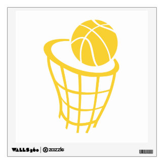 Yellow Amber Basketball Wall Decals