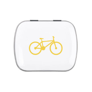 Yellow Amber Bicycle Jelly Belly Candy Tins