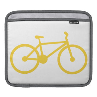 Yellow Amber Bicycle Sleeve For iPads