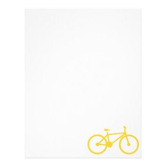 Yellow Amber Bicycle Letterhead