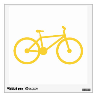 Yellow Amber Bicycle Wall Decal