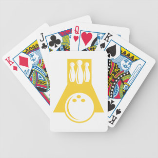 Yellow Amber Bowling Bicycle Playing Cards