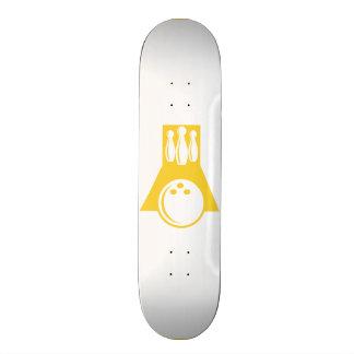 Yellow Amber Bowling Skate Deck