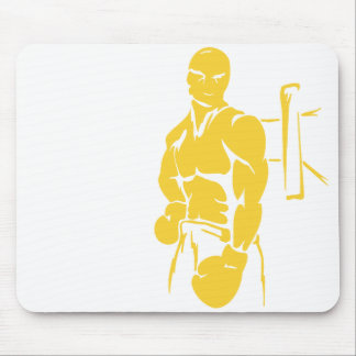 Yellow Amber Boxing Mouse Pad