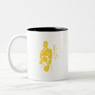 Yellow Amber Boxing Coffee Mugs