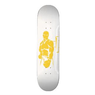 Yellow Amber Boxing Skateboard Deck