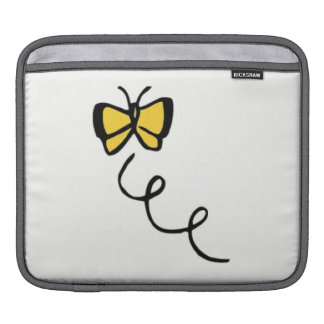 Yellow Amber Butterfly iPad Sleeves