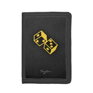 Yellow Amber Casino Dice Wallet