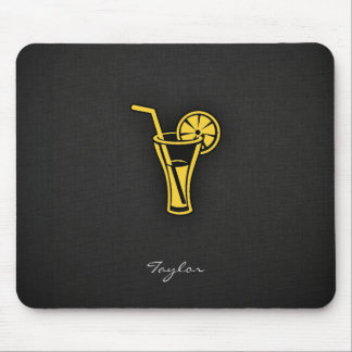 Yellow Amber Cocktail Mouse Pad