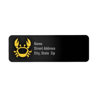 Yellow Amber Crab Label