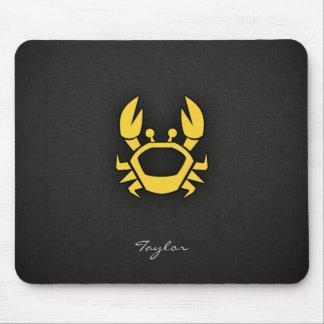 Yellow Amber Crab Mouse Pad