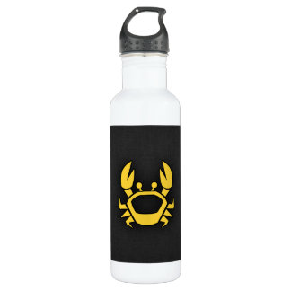 Yellow Amber Crab Stainless Steel Water Bottle