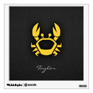 Yellow Amber Crab Wall Sticker