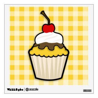 Yellow Amber Cupcake Wall Sticker