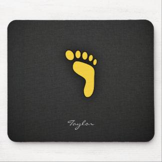 Yellow Amber Footprint Mouse Pad