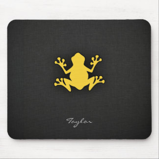 Yellow Amber Frog Mouse Pad