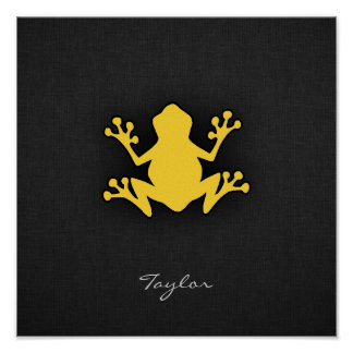 Yellow Amber Frog Poster