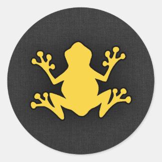Yellow Amber Frog Sticker