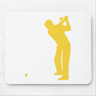 Yellow Amber Golf Mouse Pad
