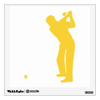 Yellow Amber Golf Wall Sticker