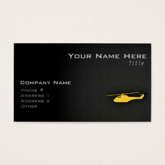 Yellow Amber Helicopter Business Card