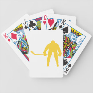 Yellow Amber Hockey Bicycle Playing Cards
